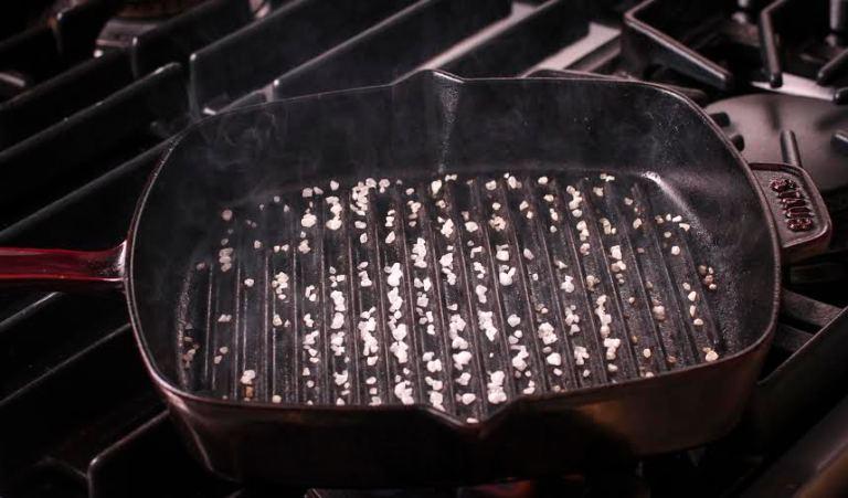 """10"""" Staub cast-iron grill pan"""