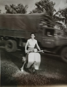 My grandmother in Vietnam during the Vietnam War, where she worked as a nurse.